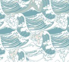 Big blue wave Sticker