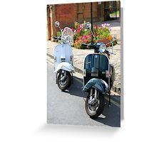 Lambretta and Vespa Scooters Greeting Card