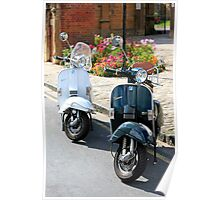 Lambretta and Vespa Scooters Poster