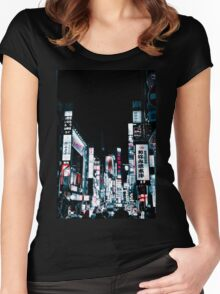 Kabukicho's Signs Women's Fitted Scoop T-Shirt