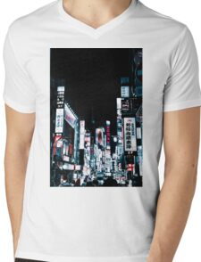 Kabukicho's Signs Mens V-Neck T-Shirt