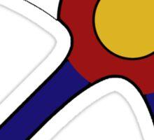 Colorado flag airplane Sticker