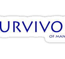 Survivor of man flu Sticker
