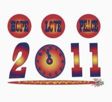 T-Shirt-  love, hope & peace 2011 by haya1812