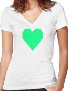 Guppie Green Women's Fitted V-Neck T-Shirt