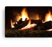 Fireplace II Canvas Print