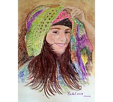 Girl in a hat Photographic Print