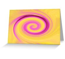 Yellow and Pink Art Twirl Greeting Card