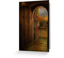 The Church Door Greeting Card