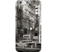 Toned streetscape in Broadway iPhone Case/Skin