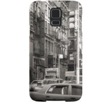 Toned streetscape in Broadway Samsung Galaxy Case/Skin