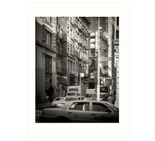 Toned streetscape in Broadway Art Print