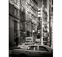 Toned streetscape in Broadway Photographic Print