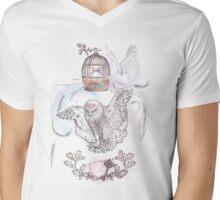 Owl Mail Mens V-Neck T-Shirt