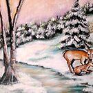 Winter Deer by Pamela Plante