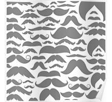 Moustaches a background Poster