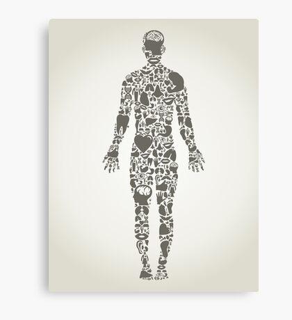 Parts body the person Canvas Print