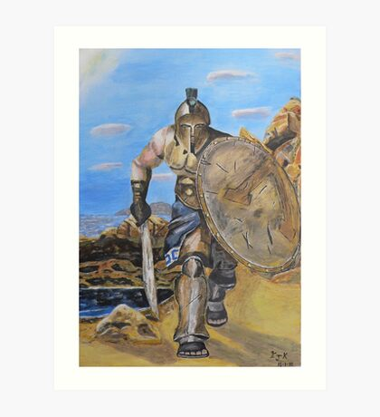 Spartan Warrior, One of the three hundred Art Print