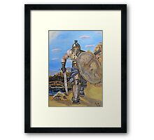 Spartan Warrior, One of the three hundred Framed Print