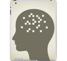 Pixel in a head iPad Case/Skin