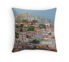 Molyvos II, Lesvos, Greece Throw Pillow