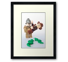Snakes. Why'd it have to be snakes? Framed Print