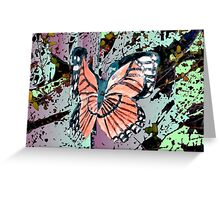 Orange butterfly design Greeting Card
