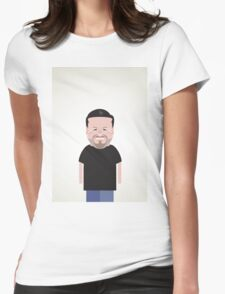 Ricky Gervais. Womens Fitted T-Shirt