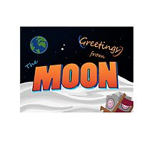 Greetings From The Moon Photographic Print