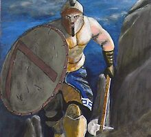 Spartan Warrior, One of the three hundred. (at Night) by Eric Kempson