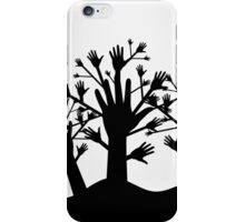 Wood of hands iPhone Case/Skin