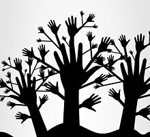 Wood of hands by Aleksander1