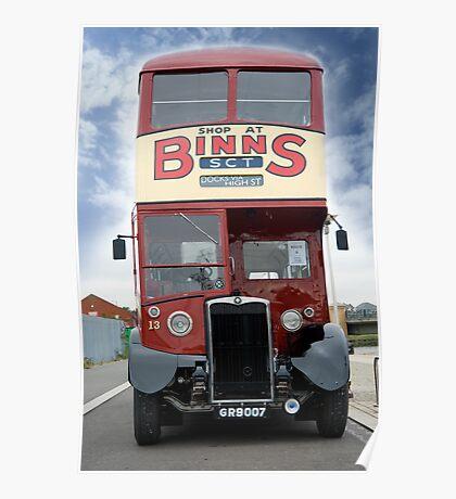 Vintage Bus Poster