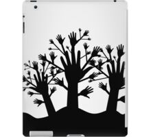 Wood of hands iPad Case/Skin