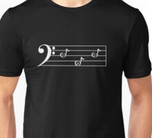 DAD  - Words in Music - V-Note Creations (white text) Unisex T-Shirt