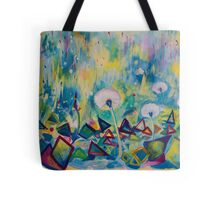 Dandelions Abstract Patterns Tote Bag