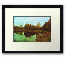 Autumn's mirror Framed Print