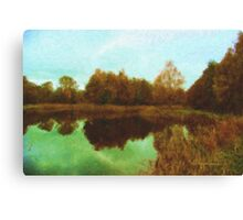 Autumn's mirror Canvas Print