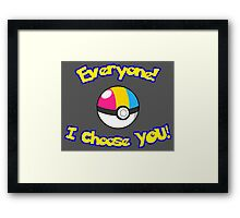 Parody: I Choose Everyone! (Pansexual) Framed Print