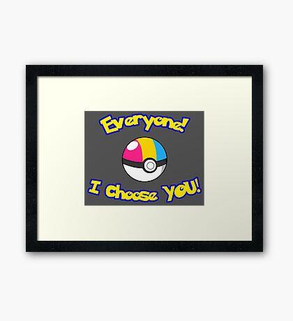 Parody: I Choose Everyone! (Pansexual) Framed Print