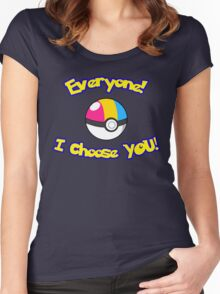 Parody: I Choose Everyone! (Pansexual) Women's Fitted Scoop T-Shirt