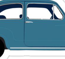 Fiat 600 Side View Sticker