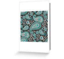 Modern Paisley in Mint Green Greeting Card