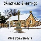Dalmeny Mercat Cross - Christmas Card by Tom Gomez