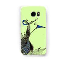The jumping bird of the grass Samsung Galaxy Case/Skin