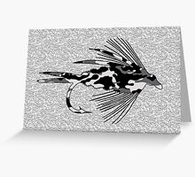 Black Camo Fly - Blank Greeting Card Greeting Card