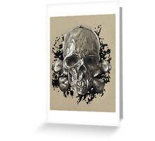 Death's Head Greeting Card