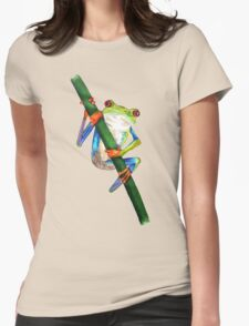 Tree Frog Womens Fitted T-Shirt