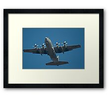 Air Force Plane ready to land. Framed Print