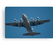 Air Force Plane ready to land. Canvas Print